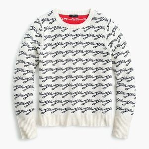 NWT J. Crew Colorblock Sweater Yes/No Jacquard